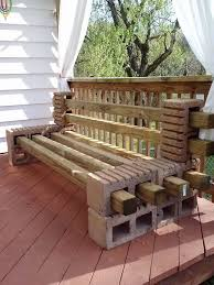 Patio furniture is surprisingly expensive, so save yourself some money by  creating this great bench with cinder blocks and wood.