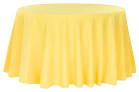 polyester 108 round tablecloth canary yellow