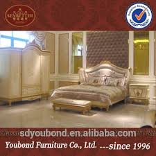 0057 Antique French Style Bedroom Furniture, Royal Classic Cream White  Country Design Bed Set
