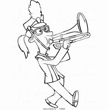trombone coloring page. Trombone Line Art Free Clip With Coloring Page Olegratiy And
