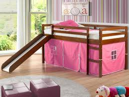 loft with slide. image of: donco twin loft bed with slide
