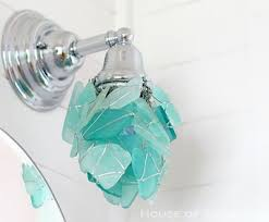 coastal style bath lighting. learn how to wire wrap beach sea glass make decorations for your home coastal style bath lighting