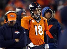 peyton manning broncos. Denver Broncos Quarterback Peyton Manning (18) Watches The Final Seconds Of  An NFL Divisional Peyton Manning Broncos