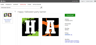 Flair Template Microsoft Office Banner Template Add Halloween Flair With Free