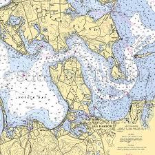 New York Shelter Island Sag Harbor Nautical Chart Decor