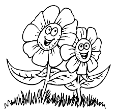 Small Picture Happy Spring Flower Coloring Sheets For Kids Kids Coloring Pages