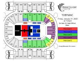 Pensacola Bay Center Seating Chart Tobymac Pensacola Bay Center