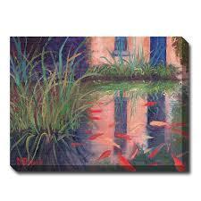 outdoor canvas art. Coy Koi Outdoor Canvas Art E
