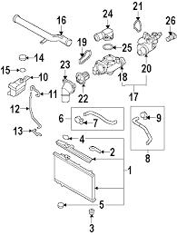 parts com® hyundai santa fe radiator oem parts diagrams 2011 hyundai santa fe se v6 3 5 liter gas radiator