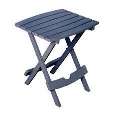adams manufacturing quik fold bluestone resin plastic outdoor side table