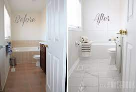 Yes You Really Can Paint Tiles Rust Oleum Tile Transformations Kit Pink Little Notebook Bathrooms Remodel Painting Bathroom Tiles Bathroom Makeover