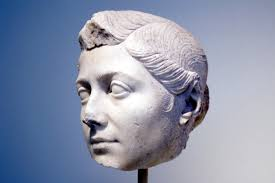 Ancient Roman Hair Style parian marble bust from smyrna of an ancient roman woman likely 7967 by wearticles.com