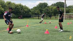 preseason soccer drills ping receiving fitness on the ball
