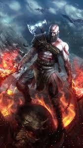 kratos of war art 1080x1920