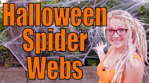 How To Make A Giant Spider Web How To Put Up Halloween Spider Web Decorations Youtube