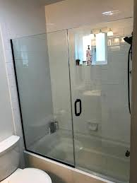 tub shower doors bathtub glass door install