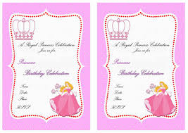 princess birthday invitations birthday printable princess birthday invitations