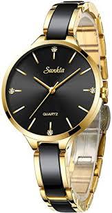 <b>SUNKTA Women's</b> Analogue Quartz Watch <b>Fashion</b> Waterproof ...