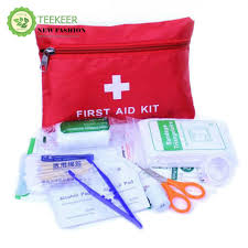 teekeer 14 pcs light and durable medical trauma kit first aid kit for travel car emergency