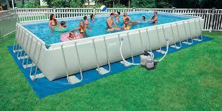intex above ground pool rectangle. Intex\u0026reg; 16\u0027 X 32\u0027 Rectangle 52\ Intex Above Ground Pool