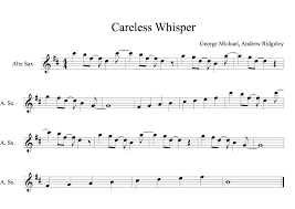 careless whisper tenor sax sheet music