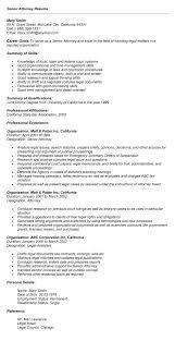 Sample Resume: Senior Attorney Resume Sle