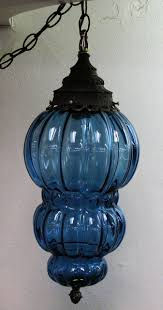 Antique Glass Hanging Light Fixtures Blue Glass Hanging Swag Lamp Lamp Design Bedroom Lamps