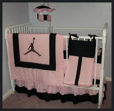 pink baby furniture. jordan baby sets michael jordan pinkblack crib bedding set pink furniture