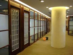 Wood Office Partitions Appealing Wooden Glass Partition Office Wood