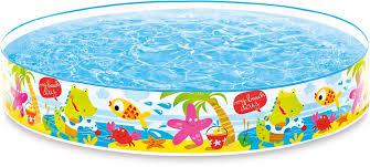 Надувной <b>жесткий бассейн Intex</b> Пляж, 152 х 25 см, от 3 лет ...