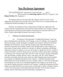 Nda Document Template Free Simple Non Disclosure Agreement Template Tridentknights Com