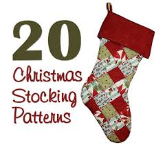 Christmas Stocking Sewing Pattern Extraordinary 48 Christmas Stocking Patterns Hidden Treasure Crafts And Quilting