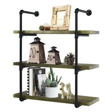 modern 3 tier wall mount shelf metal