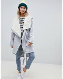 Asos Design Waterfall Parka With Borg Liner Waterfall Parka With Borg Liner