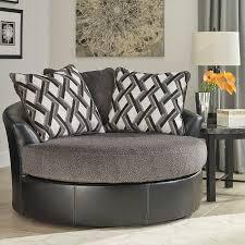 Oversized Swivel Chairs For Living Room Kumasi Smoke Oversized Swivel Accent Chair Bernie Phyls