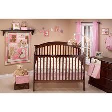 little bedding by nojo dream land teddy girl crib set hayneedle