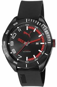 men s puma octane 2 black and red silicone display strap watch men s puma octane 2 black and red silicone display strap watch pu103951001