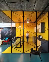 Modern Industrial Office Interior Design A World Of Color And Creative Design Modern Industrial