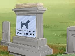 PET LOSS MEMORIALSDog Burial Backyard