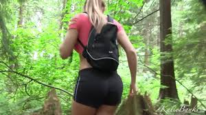 Black booty porn in the forest