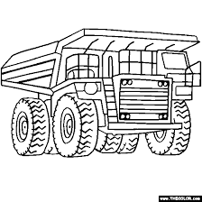 Small Picture Dump Truck Coloring Page Color Mega Dump Truck