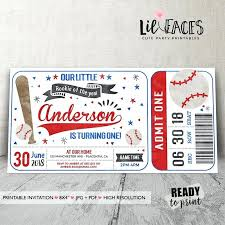 Party Ticket Invitations Enchanting Free Baseball Birthday Party Invitation Template Invitations Angels