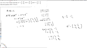 solve the equation axb c for x linear algebra