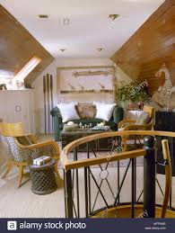 exotic living room furniture. Exotic Sitting Room With A Sloping, Wood-panelled Ceiling, Sofa, Animal Print Living Furniture E