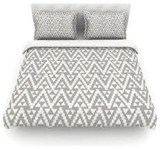 amanda lane geo tribal gray gray tribal duvet cover cotton queen contemporary