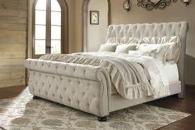 Willenburg Linen King Upholstered Sleigh Bed