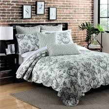 toile quilt set black and white bedding curtains quilt set country life sheet sets imposing comforter toile quilt set