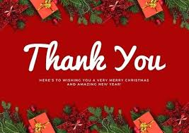 Red Decor Thank You Card Use This Template Christmas Cards Templates