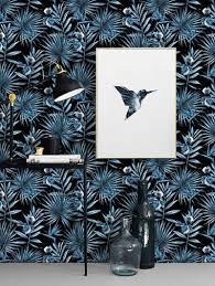 Zelfklevend Behang Jungle Blauw Zwart 122x122 Cm