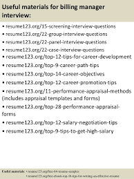 top  billing manager resume samples       useful materials for billing manager